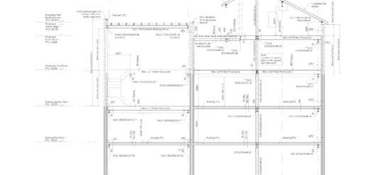 Welmar Mews, Clapham, London, engineering drawings